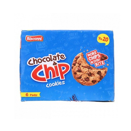 BISCONNI CHOCOLATE CHIP COOKIES HALF ROLL (PACK OF 6)
