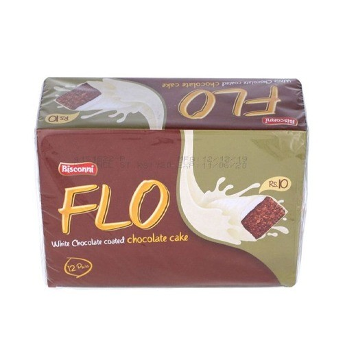 BISCONNI FLO WHITE CHOCOLATE BROWN CAKE (PACK OF 12)