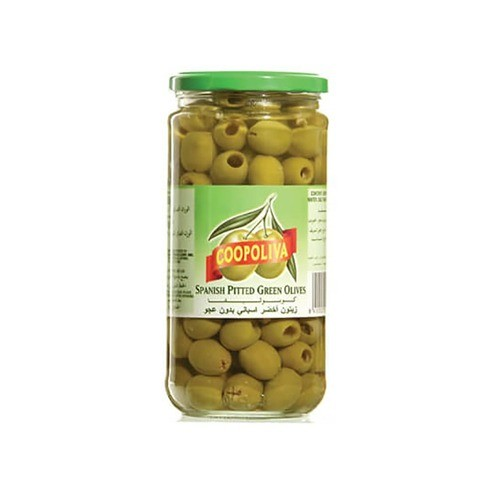 COOPOLIVA GREEN OLIVES PITTED (450 GMS)