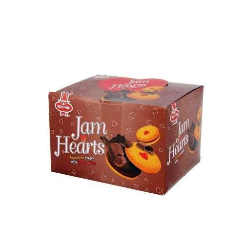 KOLSON JAM HEARTS BISCUIT CHOCOLATE – HALF ROLL (PACK OF 6)