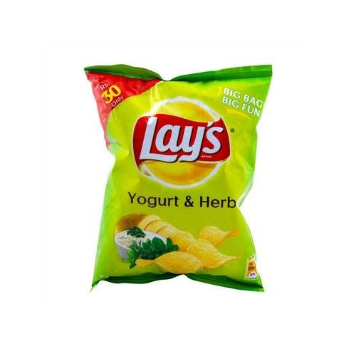 LAYS YOUGURT AND HERB CHIPS (45 GMS)