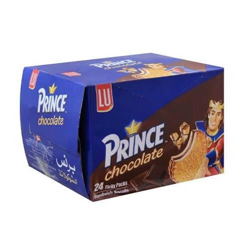 LU PRINCE CHOCOLATE BISCUIT TICKY PACK (PACK OF 24)