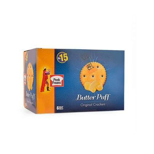 PEEK FREANS BUTTER PUFF BISCUITS (HALF ROLL X 6)