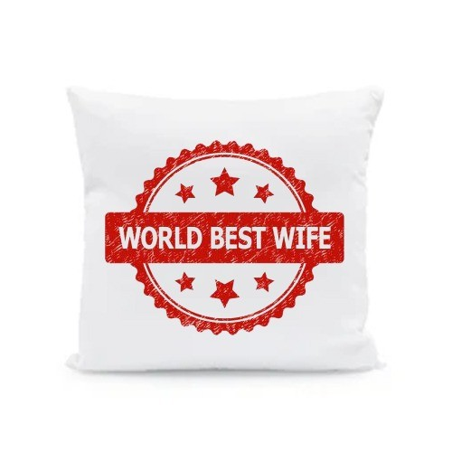WORLDS BEST WIFE (RED) CUSHION