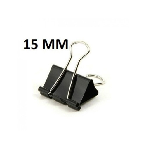 CHINA BINDER CLIP 15MM (PACK OF 12)
