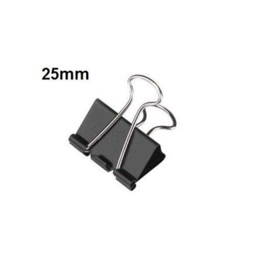 CHINA BINDER CLIP 25MM (PACK OF 12)