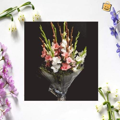 FOR THE FRIEND YOU CARE WHITE GLAD BOUQUET