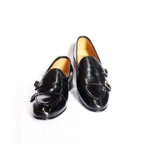 HANDCRAFTED LEATHER MENS SHOES (US-591-BK)