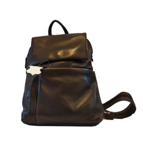 LEATHER BAG PACK STYLE FOR WOMEN (BLACK)