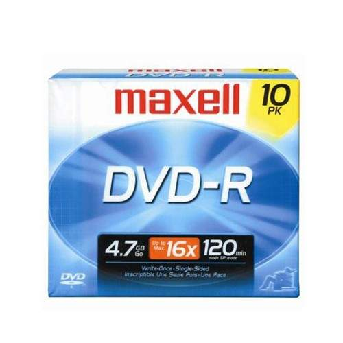 MAXELL DVD-R (PACK OF 10)