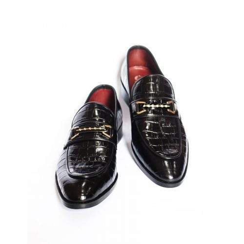 ORIGINAL HANDCRAFTED LEATHER MENS SHOES (US-251-BK)