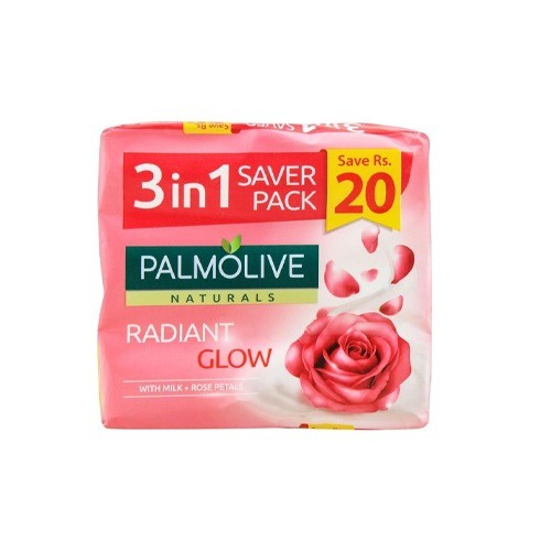 PALMOLIVE NATURALS RADIANT GLOW SOAP (3 IN 1)