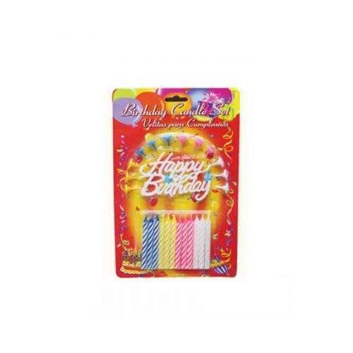 BIRTHDAY CANDLES SET (PACK OF 12)