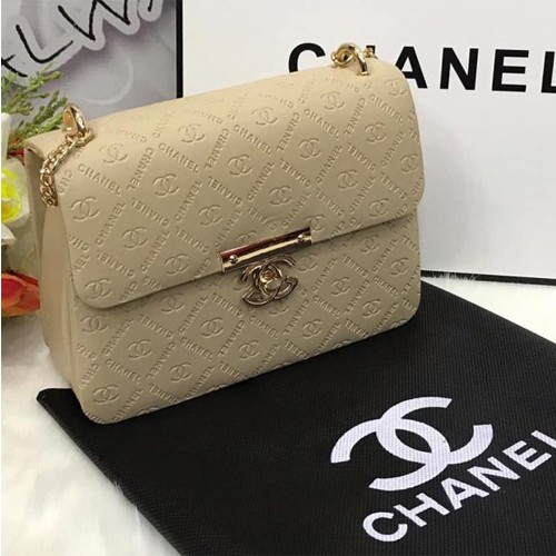 CHANEL BAG FOR HER WITH LONG CHAIN, STRAP & MASTER LOCK