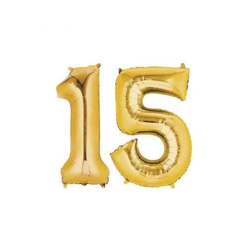 FOIL HELIUM BALOON SOLID NUMBER BIRTHDAY NO.
