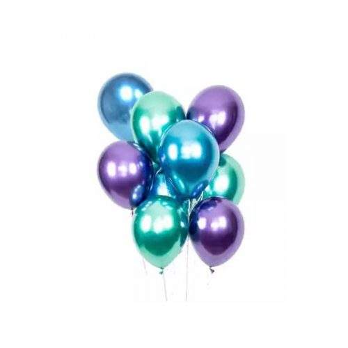 METTALIC SHINY BALOON FOR BIRTHDAY AND ANNIVERSARY (PACK OF 5)