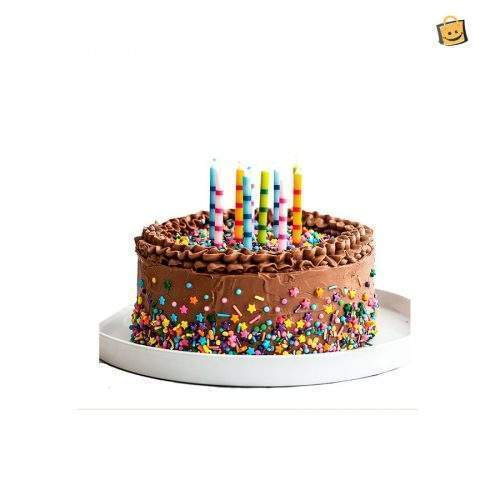 BIRTHDAY BUTTER, CHOCO BEANS AND CHOCOLATE THEME CAKE - 3 LBS