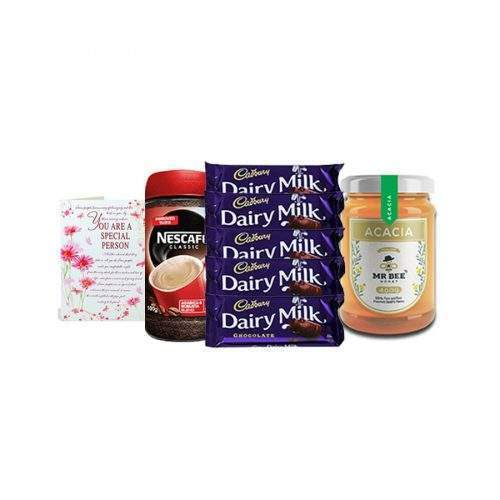 COFFEE WITH HONEY, DAIRY MILK AND GREETING CARD (WINTER COMBO)
