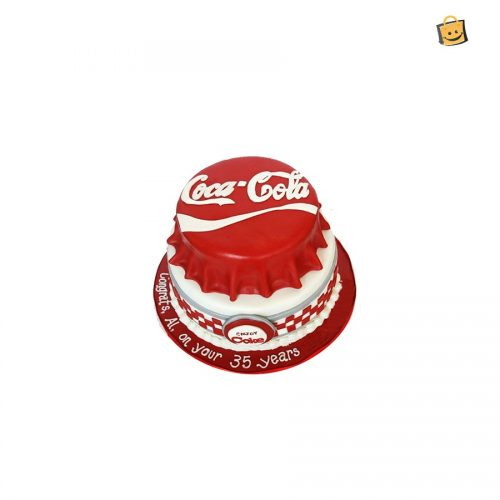 LOVE OF COCA COLA FRIENDS FOREVER THEME CAKE - 6 LBS