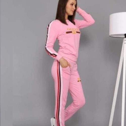 TRACK SUIT FOR GIRLS IN FLEECE FABRIC