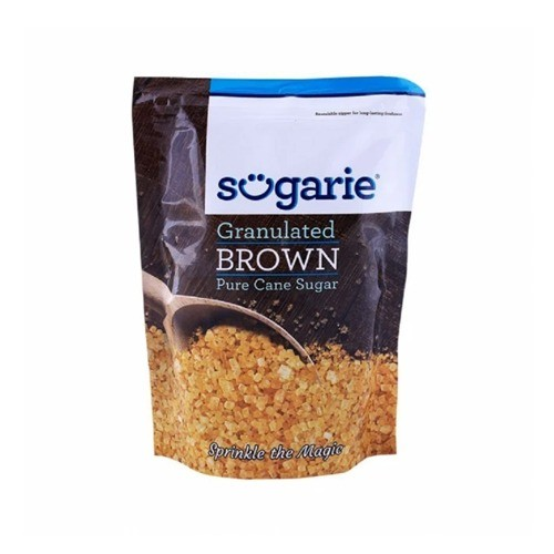 SUGARIE POWDERED BROWN GRANULATED SUGAR POUCH (500 GMS)