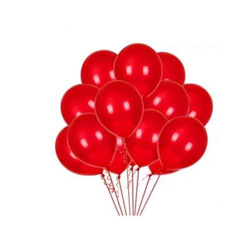 BALOONS FOR PARTY AND BIRTHDAY- RED COLOR (PACK OF 25)