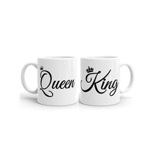 COUPLES MUG KING AND QUEEN (PAIR)