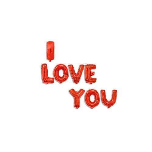 FOIL HELIUM BALOON I LOVE YOU - RED