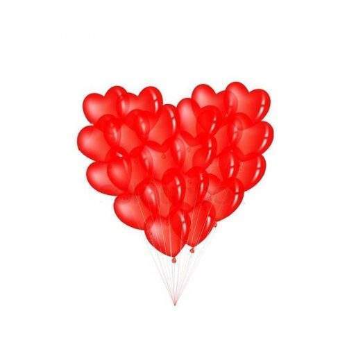 HEART SHAPE BALOONS FOR PARTY AND CELEBRATION - RED COLOR (PACK OF 25)