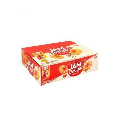 PEEK FREANS JAM DELIGHT BISCUITS (SNACK PACK X 12)