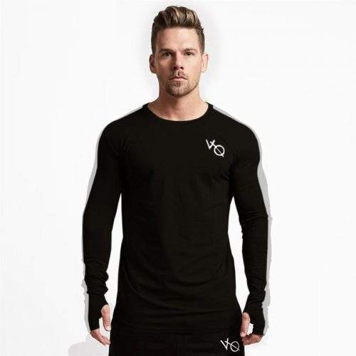 VQ TEES FULL SLEEVED IN JERSEY FABRIC - BLACK