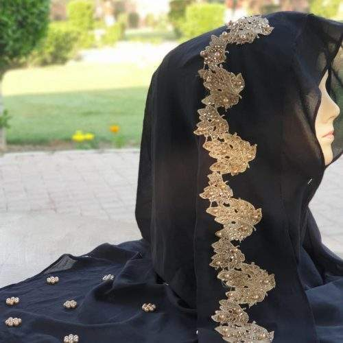 ONE LOOP HIJAB (INSTANT BUNCHED) - BLACK COLOR