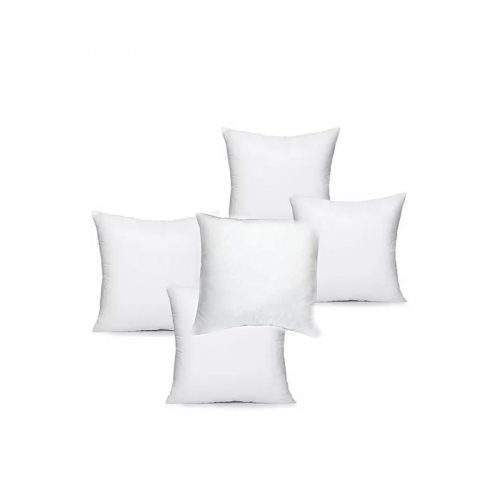 PACK OF 5 - FILLED POLYESTER THROW CUSHION – WHITE