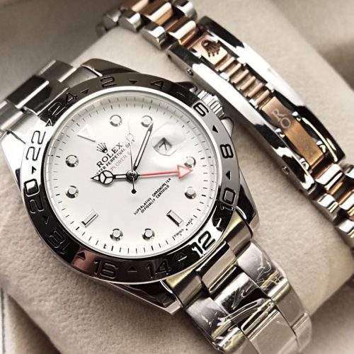 ROLEX FOR GENTS IN STAINLESS STEEL CHAIN WITH BRACELET - BRASS