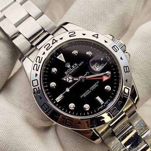 ROLEX for Gents in Stainless Steel Chain black