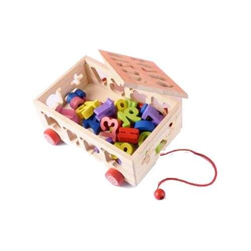 WOODEN BLOCKS WITH CART FOR KIDS