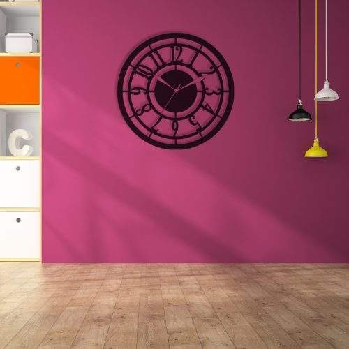 WOODEN ROUND CLASSIC WALL CLOCK