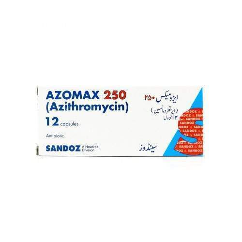 AZOMAX CAPSULES – PACK OF 12 (250 MG)