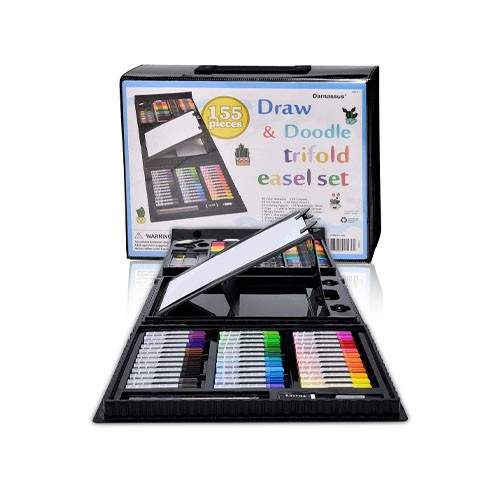 DARNASSUS 155-PIECE TRIFOLD EASE! ART SET DELUXE PROFESSIONAL