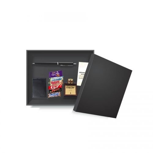 EXECUTIVE GIFT FOR HIM (LEATHER WALLET AND CHOCOLATES AND J. ZARAR PERFUME)