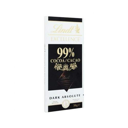 LINDT EXCELLENCE COCOA 99% DARK CHOCOLATE (50 GMS)