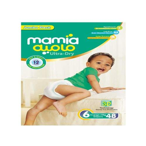 MAMIA ULTRA DRY DIAPERS - SIZE 6 (48 PCS)