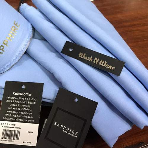 SAPPHIRE PREMIUM QUALITY WASH N WEAR GENTS COLLECTION - SKY BLUE