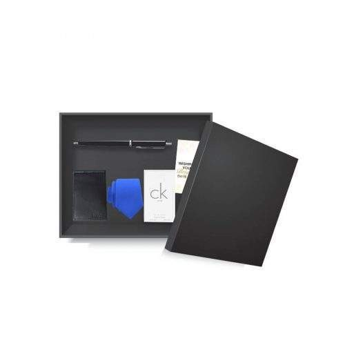 CLASSIC GIFT FOR HIM (LEATHER WALLET AND TIE WITH PEN AND CK ORIGINAL PERFUME)