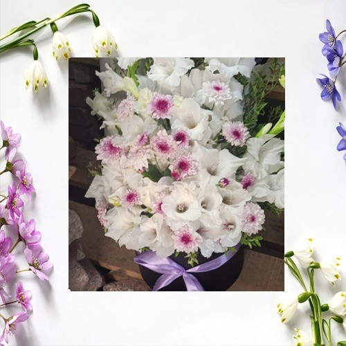 FOR YOU FOREVER FLOWER BOUQUET WITH BASKET