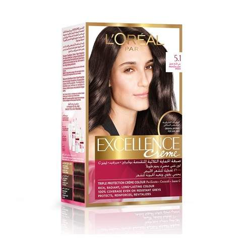 LOREAL EXCELLENCE CREME HAIR COLOR - 5.1
