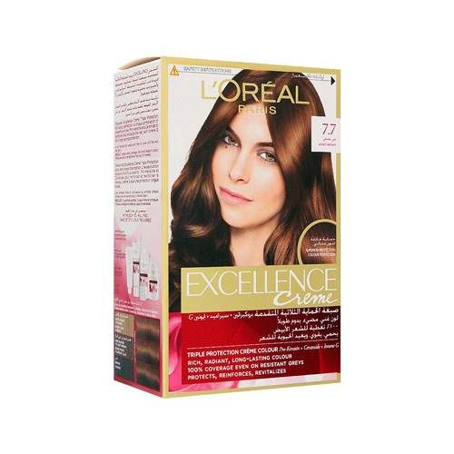LOREAL EXCELLENCE HAIR COLOR 7.7