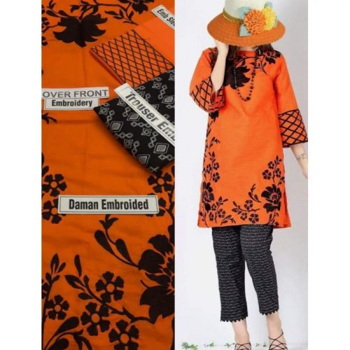 MARIA B. 2PC KHADDAR EMBROIDERY WITH SHIRT AND TROUSER (MB03)