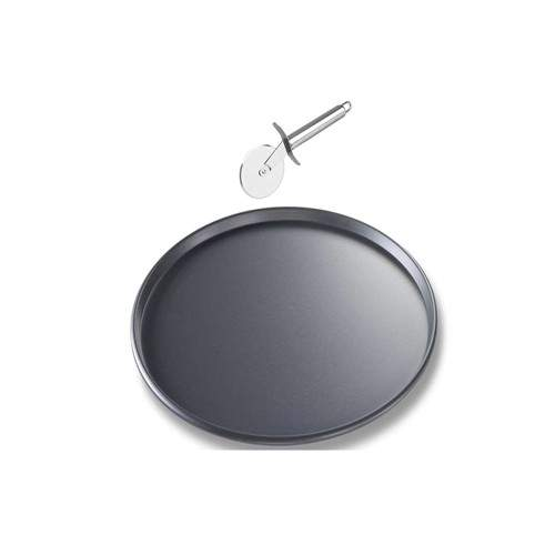 NON STICK PIZZA PAN WITH PIZZA CUTTER (10 INCH)