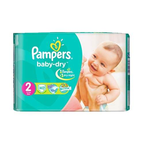 PAMPERS NO.1-2 MINI DIAPERS (40 PCS)